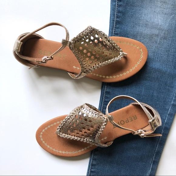 b4bc5a27a6 Report Shoes | New Stitch Fix Lexie Gold Laser Cut Sandal | Poshmark